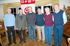 Fünf Mitglieder des BSV Brochterbeck wurden für 40- und 50-jährige Vereinstreue auf der Jahreshauptversammlung ausgezeichnet. Foto: (Marianne Voß) © Westfälische Nachrichten - Alle Rechte vorbehalten 2009