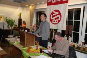 Der 1. Vorsitzende Bastian Masche leitete die unter guter Beteiligung stattfindende Jahreshauptversammlung des BSV Brochterbeck